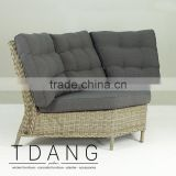 Hanna Wicker Sofa Corner- Modern Outdoor Wicker Furniture - Rattan Corner Sofa Sets