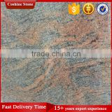 Polished India multicolor red granite tile for floor