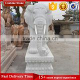 Outdoor White Marble Elephant Statues