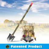 Emergency Rescue Equipment/Multifunction Shovel with best chain saw,tactical led flashlight,knife