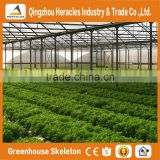 Heracles Versatile multi span poly film Greenhouse for Hydroponic growing systems of NFT and Soilless systems