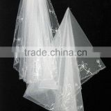 2016 New Fashion Beautiful Wedding Veils Two Layers Lace Trim Bridal Veils
