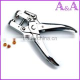 shoe crimping punch tool plier/ leather Button or Eyelet Pliers Hand tools Revolving For Quick Size Adjustment