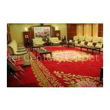 Stylish Red Knotted Hand Tufted Hotel Carpet , 20% Nylon Pattern Custom Made Area Rugs