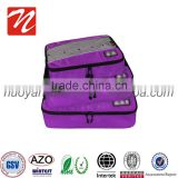 Durable 3 Pieces set travel bag .Foldable Luggage Travel Packing Cube Bag for suitcase and packing