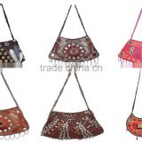 LEATHER BANJARA HAND BAG