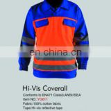 Hot sale long sleeve safety coverall with work clothing