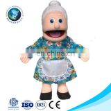 Cheap custom plush soft kids baby toy stuffed sex rag doll wholesale cute cartoon funny plush grandmother hand puppet