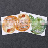 Customized cheaper price Special shaped detergent cleaning PVC self adhesive stickers for market fruit label