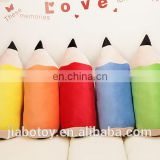 Pencil plush toy educational Newest Style Creative 2B Pencil Bolster Birthday Gifts coulorful shape pencil plush toy