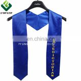 Printed Royal Blue Graduation Stoles Wholesale