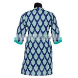 PRINTED INDIGO WITH COLLAR PATTERN KURTIS ALL SIZE AVIALABLE