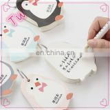 Top Quality Customized Promotion luxury funny penguin shaped sticky note pad stationery wholesale from china