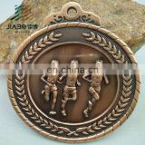 High quality custom running sports finisher award gold,silver and bronze metal medal