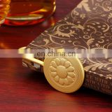 customized golden pocket metal bookmark personalized souvenir gift wholesale