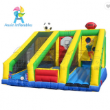 inflatable football throw games, basketball full court press for rental