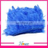 Wholesale Dyed Chicken feathers ribbons feather fringe trimming for Cloth or jewelry