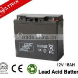 12v 18ah SLA Fire alarm system back up power battery