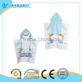 China whlolesale penguin hooded children bath towel poncho made of high-quality terry fabric