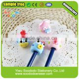 3d pencil topper gift package shaped eraser color set