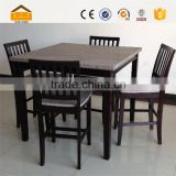 modern square breakfast table with 4 chairs set