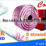 PP / PolypropylenePolypropylene high quality 3 strands braided rope with UV protection and waterproof