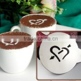 Metal stainless steel coffee stencil