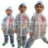 Kids Full Printed Raincoat Clear Plastic Suit