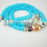 Baby blue glass bead bracelet
