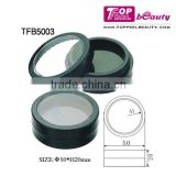 round empty compact powder case matte plastic comestic packaging box PRIVATE LABEL makeup container
