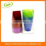 Wholesales colorful water cups clear hard plastic cups                                                                         Quality Choice