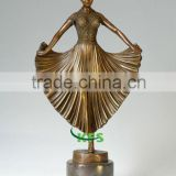 Brass dancer figure statue for table ornaments