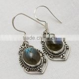 Passion Labradorite 925 Sterling Silver Earring, Wholesale Silver Jewelry, Exporter Silver Jewellery