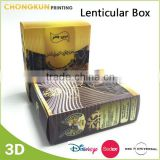 PP/PET gift packing box, 3D lenticular plastic packaging box