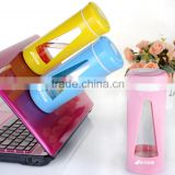 Magic proof double layer protected not fall glass tea bottle