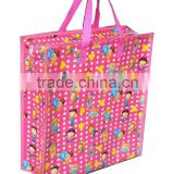lamination non woven bag in full color print/full color printed woven polypropylene bags