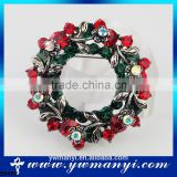 Fashion colorful rhinestone wreath brooch china new fany brooch pin B0468