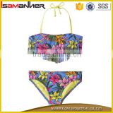 Secy triangle girl bikinis sexy girl bikini kids swimming suits with halter                                                                                                         Supplier's Choice