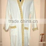 hotel embroidered bathrobe