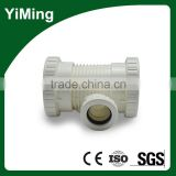 YiMing pvc screw erasure reducer tee