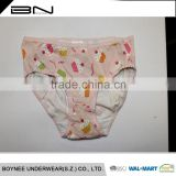 Factory Design Available 0-3 Year-old Softexible Baby Girl OEM Kintted Children Thongs Underwear