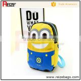 2015 China latest arrival cute minions backpack for kids
