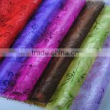 bronzing organza roll for chrismas and packing flower