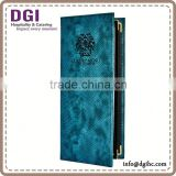 Customied hotel restaurant menu folder with factory price /catering equipment /album cover