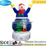 DJ-XT-62 inflatable animation air blown kaleidoscope frosty the snowman scene christmas decoration