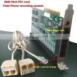 16CH PCI Telephone recording card Cost Effective DSP Technology Call Recorder 16 Line Telephone Recorder