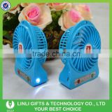 2016 Desk USB Mini Fan Rechargeable Led Plastic Standing Fan With Customized Logo