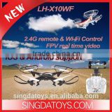 LH-X10WF Medium Size RC Drone With Camera 2.4GHz 6 Axis RC Quad copter With LED Headless Mode Wifi Real Time Transmission