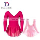 C2137 girls leotard with chiffon skirt ballet leotard dance