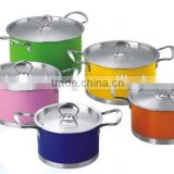 enamel paint for stainless steel parini cookware casserole/tivoli cookware set